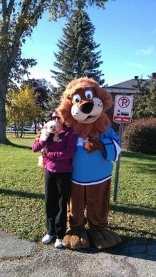 Me, Mommy & the Children's Wish Foundation Mascot after our yearly walk.